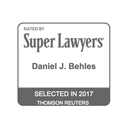 Daniel Behles, Selected to Super Lawyers 2017